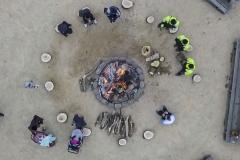 fire n ice bonfire aerial