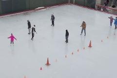 fire n ice skate rink aerial