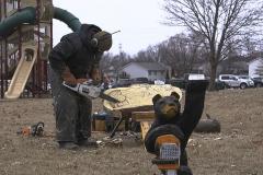 fire n ice wood carver