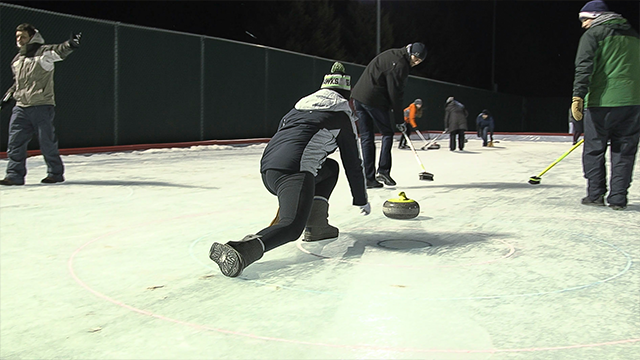 Person curling